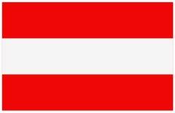 διαθέσιμο διάνυσμα ύφους γυαλιού σημαιών της Αυστρίας Στοκ Εικόνες