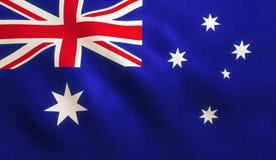 διαθέσιμο διάνυσμα ύφους γυαλιού σημαιών της Αυστραλίας Στοκ Εικόνα