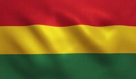 διαθέσιμο διάνυσμα ύφους γυαλιού σημαιών της Βολιβίας Στοκ Φωτογραφίες
