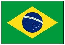 διαθέσιμο διάνυσμα ύφους γυαλιού σημαιών της Βραζιλίας Στοκ Εικόνα