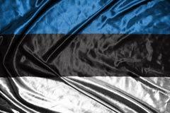 διαθέσιμο διάνυσμα ύφους γυαλιού σημαιών της Εσθονίας σημαία στο υπόβαθρο Στοκ εικόνες με δικαίωμα ελεύθερης χρήσης