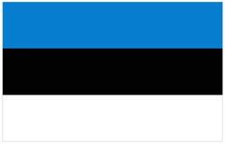 διαθέσιμο διάνυσμα ύφους γυαλιού σημαιών της Εσθονίας Στοκ Εικόνες