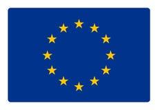 διαθέσιμο διάνυσμα ύφους γυαλιού σημαιών της Ευρώπης Στοκ Εικόνες