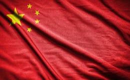 διαθέσιμο διάνυσμα ύφους γυαλιού σημαιών της Κίνας σημαία στο υπόβαθρο Στοκ εικόνες με δικαίωμα ελεύθερης χρήσης