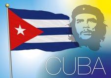διαθέσιμο διάνυσμα ύφους γυαλιού σημαιών της Κούβας Στοκ Εικόνες