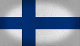 διαθέσιμο διάνυσμα ύφους γυαλιού σημαιών της Φινλανδίας Στοκ εικόνα με δικαίωμα ελεύθερης χρήσης