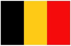 διαθέσιμο διάνυσμα ύφους γυαλιού σημαιών του Βελγίου Στοκ εικόνα με δικαίωμα ελεύθερης χρήσης