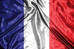 διαθέσιμο διάνυσμα ύφους γυαλιού της Γαλλίας σημαιών σημαία στο υπόβαθρο Στοκ φωτογραφία με δικαίωμα ελεύθερης χρήσης