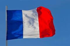 διαθέσιμο διάνυσμα ύφους γυαλιού της Γαλλίας σημαιών Στοκ εικόνες με δικαίωμα ελεύθερης χρήσης