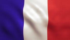 διαθέσιμο διάνυσμα ύφους γυαλιού της Γαλλίας σημαιών Στοκ Εικόνα