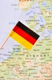 διαθέσιμο διάνυσμα ύφους γυαλιού της Γερμανίας σημαιών Στοκ φωτογραφία με δικαίωμα ελεύθερης χρήσης