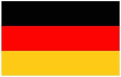 διαθέσιμο διάνυσμα ύφους γυαλιού της Γερμανίας σημαιών Στοκ Εικόνα