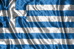 διαθέσιμο διάνυσμα ύφους της Ελλάδας γυαλιού σημαιών σημαία στο υπόβαθρο Στοκ Εικόνες