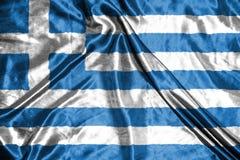 διαθέσιμο διάνυσμα ύφους της Ελλάδας γυαλιού σημαιών σημαία στο υπόβαθρο Στοκ φωτογραφία με δικαίωμα ελεύθερης χρήσης
