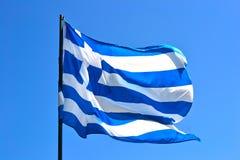 διαθέσιμο διάνυσμα ύφους της Ελλάδας γυαλιού σημαιών Στοκ Εικόνες