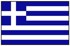 διαθέσιμο διάνυσμα ύφους της Ελλάδας γυαλιού σημαιών Στοκ φωτογραφία με δικαίωμα ελεύθερης χρήσης