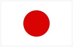 διαθέσιμο διάνυσμα ύφους της Ιαπωνίας γυαλιού σημαιών Στοκ Εικόνες
