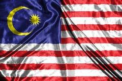 διαθέσιμο διάνυσμα ύφους της Μαλαισίας γυαλιού σημαιών σημαία στο υπόβαθρο Στοκ Εικόνες