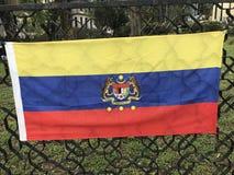 διαθέσιμο διάνυσμα ύφους της Μαλαισίας γυαλιού σημαιών Στοκ Εικόνες