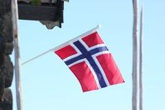 διαθέσιμο διάνυσμα ύφους της Νορβηγίας γυαλιού σημαιών Στοκ Εικόνα