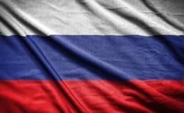 διαθέσιμο διάνυσμα ύφους της Ρωσίας γυαλιού σημαιών σημαία στο υπόβαθρο Στοκ Εικόνες