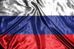 διαθέσιμο διάνυσμα ύφους της Ρωσίας γυαλιού σημαιών σημαία στο υπόβαθρο Στοκ εικόνα με δικαίωμα ελεύθερης χρήσης