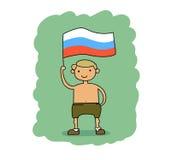 διαθέσιμο διάνυσμα ύφους της Ρωσίας γυαλιού σημαιών Στοκ φωτογραφίες με δικαίωμα ελεύθερης χρήσης
