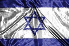 διαθέσιμο διάνυσμα ύφους του Ισραήλ γυαλιού σημαιών σημαία στο υπόβαθρο Στοκ Εικόνες