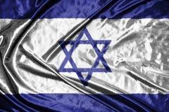 διαθέσιμο διάνυσμα ύφους του Ισραήλ γυαλιού σημαιών σημαία στο υπόβαθρο Στοκ Εικόνα