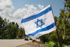 διαθέσιμο διάνυσμα ύφους του Ισραήλ γυαλιού σημαιών Στοκ Εικόνες