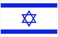 διαθέσιμο διάνυσμα ύφους του Ισραήλ γυαλιού σημαιών Στοκ Εικόνα