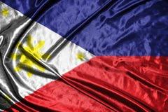 διαθέσιμο διάνυσμα ύφους των Φιλιππινών γυαλιού σημαιών σημαία στο υπόβαθρο Στοκ Φωτογραφίες