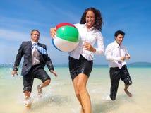 Διακοπές επιχειρηματιών που ταξιδεύουν την έννοια χαλάρωσης Στοκ Φωτογραφία