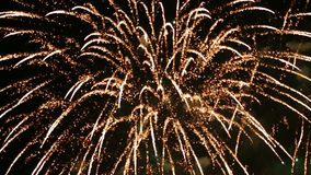 διακοπές Πυροτεχνήματα νύχτας απόθεμα βίντεο