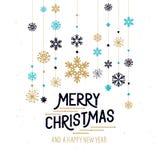 Διακοσμήσεις Καλών Χριστουγέννων Στοκ Εικόνες