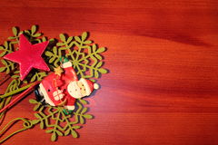 διακοσμήσεις Χριστουγέννων κλάδων κιβωτίων σφαιρών handbell Στοκ εικόνες με δικαίωμα ελεύθερης χρήσης