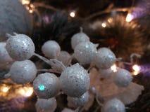 διακοσμήσεις Χριστουγέννων κλάδων κιβωτίων σφαιρών handbell Στοκ φωτογραφία με δικαίωμα ελεύθερης χρήσης