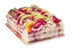 διακοσμημένες φράουλες σμέουρων καρπού επιδορπίων κέικ βατόμουρων Στοκ Φωτογραφία