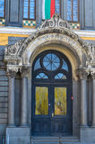 Διακοσμημένη πόρτα της εκκλησίας μέσα, Sofia Βουλγαρία Στοκ Φωτογραφία