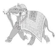 διακοσμημένος ελέφαντας Ινδός διανυσματική απεικόνιση