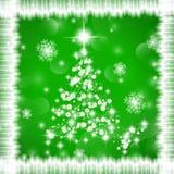 διακοσμημένο Χριστούγεννα δέντρο απεικόνισης Στοκ Εικόνες