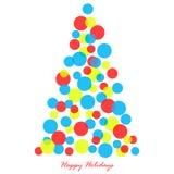 διακοσμημένο Χριστούγεννα δέντρο απεικόνισης Στοκ εικόνες με δικαίωμα ελεύθερης χρήσης
