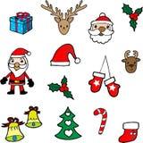 διακοσμημένο Χριστούγεννα δέντρο εικονιδίων γουνών Στοκ εικόνες με δικαίωμα ελεύθερης χρήσης