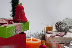 διακοσμημένο Χριστούγεννα δέντρο Στοκ Εικόνες
