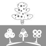 διακοσμητικά δέντρα Στοκ Εικόνα