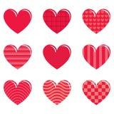 9 καρδιές Στοκ Εικόνες