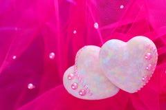 διακοσμητικές καρδιές Στοκ φωτογραφία με δικαίωμα ελεύθερης χρήσης