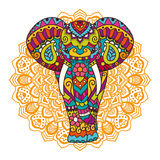 Διακοσμητική απεικόνιση ελεφάντων Στοκ Εικόνες
