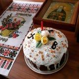 διακοσμητική παράδοση Πάσχας κέικ ψωμιού Στοκ εικόνα με δικαίωμα ελεύθερης χρήσης
