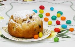 διακοσμητική παράδοση Πάσχας κέικ ψωμιού Στοκ φωτογραφία με δικαίωμα ελεύθερης χρήσης